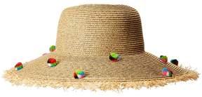 San Diego Hat Company UBL6809 Multicolor Pom Sun Brim Caps