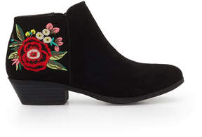 Sam Edelman Girls Petty Embroidered Ankle Bootie