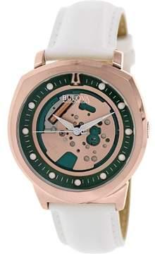 Bulova 97A111 White/Green/Gold Analog Quartz Men's Watch