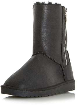 Head Over Heels *Head Over Heels By Dune Ricki Black Ladies Flat Boots