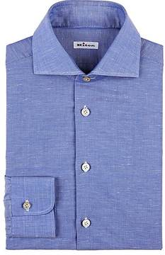 Kiton Men's Spread-Collar Dress Shirt