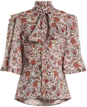 Caroline Constas Hope floral-print cotton blouse