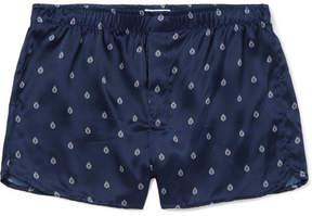 Derek Rose Brindisi Printed Silk-Satin Boxer Shorts