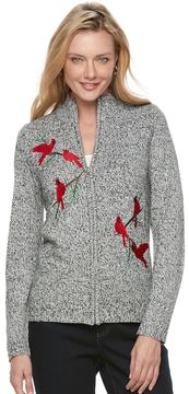 Croft & Barrow Women's Zip-Front Cardigan