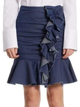 Caroline Constas Ruffled Mini Skirt