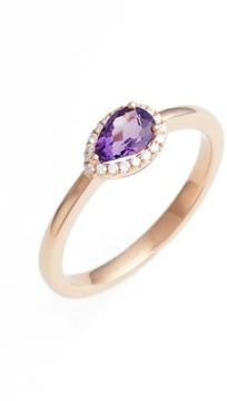 Bony Levy Women's Iris Diamond & Semiprecious Stone Teardrop Ring (Nordstrom Exclusive)