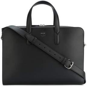 Fendi Black leather briefcase with shoulder strap