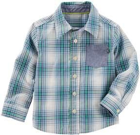 Osh Kosh Toddler Boy Plaid Button Down Shirt