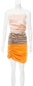Elisabetta Franchi Satin Colorblock Dress w/ Tags