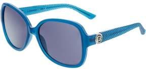 GUESS Women's GF0275-87A-58 Blue Butterfly Sunglasses