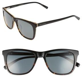Ted Baker Men's 54Mm Polarized Square Sunglasses - Black