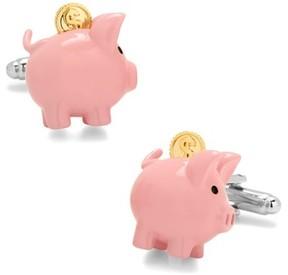 Cufflinks Inc. Men's 3D Piggy Bank Cuff Links