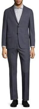 Hickey Freeman Tonal Plaid Wool Suit