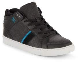 Original Penguin Lace-Up High-Top Sneakers