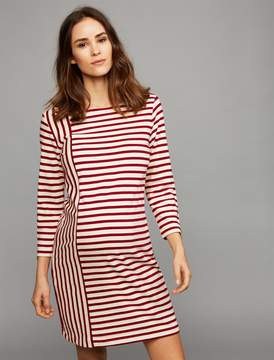 Three Dots Pea Collection Striped Maternity Dress