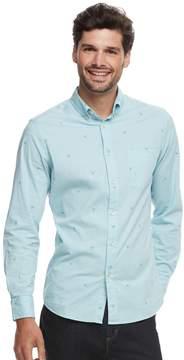 DAY Birger et Mikkelsen Sonoma Goods For Life Men's SONOMA Goods for Life Modern-Fit Checked Stretch Poplin Button-Down Shirt