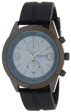 Kenneth Cole Reaction Men's 3 Hand Silicone Strap Watch, 47mm