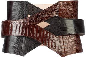 Balmain inter-woven corset-style belt