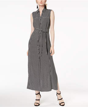 Bar III Belted Maxi Shirtdress, Created for Macy's