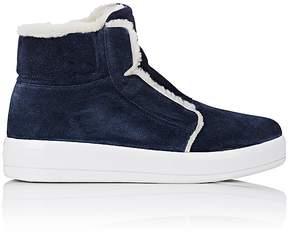 Prada Women's Side-Zip High-Top Sneakers
