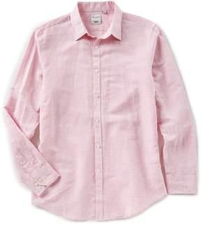 Murano Baird McNutt Linen Long Sleeve Slim-Fit Patterned Shirt