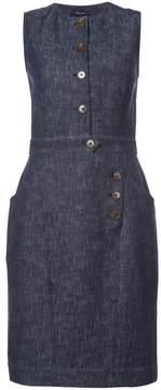Derek Lam Sleeveless Dress With Button Detail