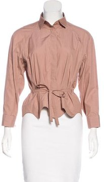 Alaia Long Sleeve Button-Up Top