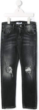MSGM distressed stonewashed jeans