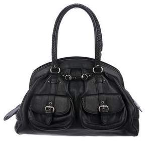 Christian Dior Grained Leather Tote