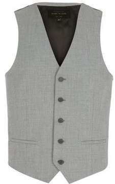 River Island Mens Light grey single breasted vest