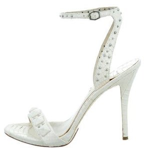 Brian Atwood Embossed Studded Sandals