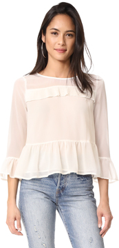 Cupcakes And Cashmere Katlyn Peplum Blouse