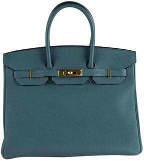 Hermes Birkin leather tote - BLUE - STYLE