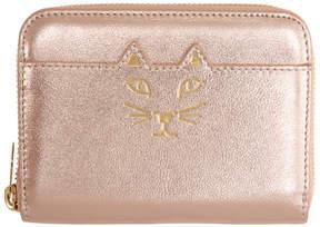 Charlotte Olympia Pink Feline Zip Wallet