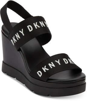 DKNY Cati Slingback Wedge Sandals, Created for Macy's
