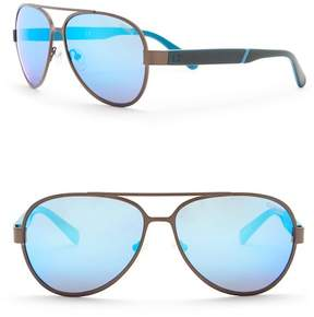 GUESS 61mm Aviator Sunglasses