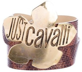 Just Cavalli Snakeskin Buckle Belt