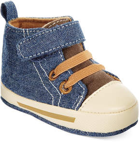 First Impressions Baby Boys' High-Top Denim Sneakers