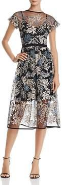 Aqua Embroidered Illusion Dress - 100% Exclusive