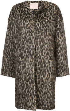 Brock Collection animal print coat