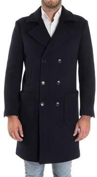 Alessandro Dell'Acqua Men's Blue Wool Coat.