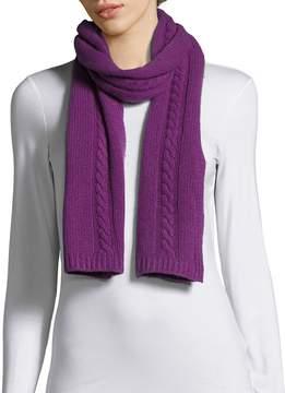 Portolano Women's Cable-Knit Solid Scarf