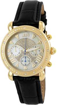 JBW Women's Victory 18K Gold Plated Stainless Steel & Embossed Leather Watch, 37mm