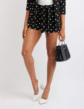 Charlotte Russe Polka Dot Tie Front Shorts