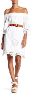 Fifteen-Twenty Fifteen Twenty Embroidered Off the Shoulder Dress