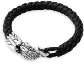King Baby Studio Eagle Leather and Sterling Silver Bracelet