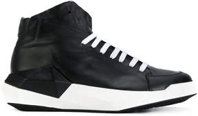 Cinzia Araia hi-top panelled sneakers