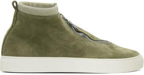 Diemme Green Suede Fontesi High-Top Sneakers