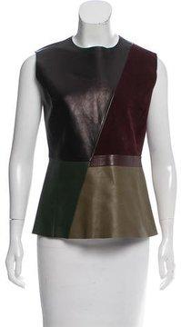 Celine Leather Colorblock Top