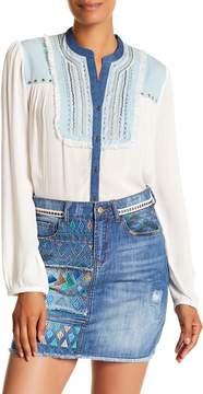 Desigual Jeans Long Sleeve Blouse